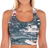 Soulgani Lux Graffiti Print Sports Bra