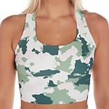 Women's Soulgani Lux Green Camo Sports Bra