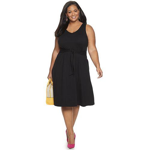 Plus Size Apt. 9® Sleeveless Cinch Waist Dress