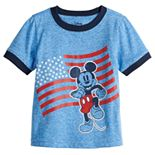 Disney's Mickey Mouse Toddler Boy American Flag Ringer Tee by Jumping Beans®
