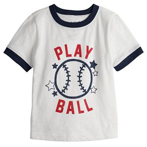 "Baby Boy Jumping Beans® ""Play Ball"" Baseball Ringer Tee"