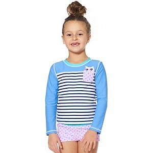 Toddler Girl Kiko & Max Kitten Rash Guard Set