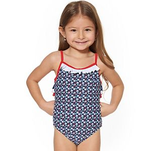 Toddler Girl Kiko & Max Ditsy Floral One-Piece Swimsuit