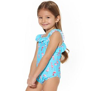 Toddler Girl Kiko & Max Flamingo One-Piece Swimsuit