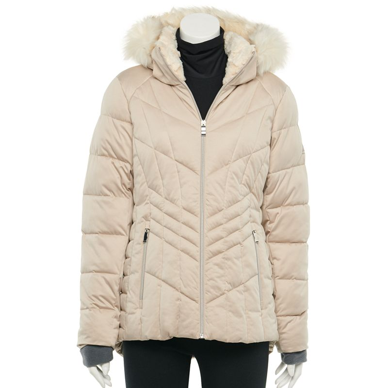 Women's ZeroXposur Alisha Quilted Faux-Fur Hood Heavyweight Jacket, Size: XXL, Brown Over