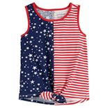 Toddler Girl Jumping Beans® Patriotic Knot-Front Tank