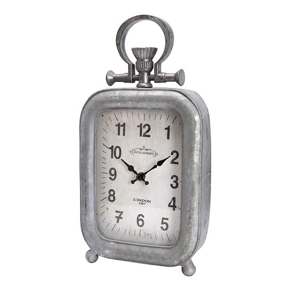 Galvanized Old Town Table Clock
