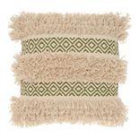 Mina Victory Lifestyles Diamond Stripe Texture Throw Pillow