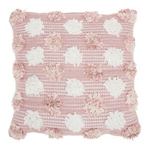 Mina Victory Lifestyles Woven Chindi Flowers Throw Pillow