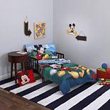 Disney Mickey Mouse Playhouse 4 Piece Toddler Bedding Set