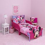 Disney's Minnie Mouse Hearts & Bows 4 Piece Toddler Bedding Set