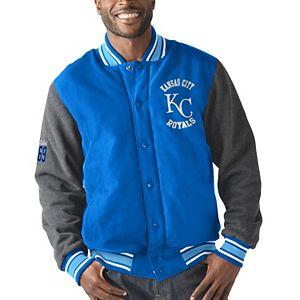 Men's G-III Sports by Carl Banks Royal Kansas City Royals Original Varsity Button-Up Jacket
