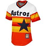 Men's Majestic Orange Houston Astros Cooperstown Cool Base Team Jersey
