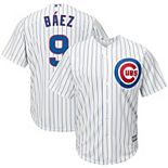 Men's Majestic Javier Baez White Chicago Cubs Big & Tall Cool Base Player Jersey