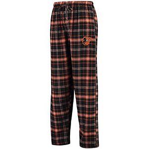 Men's Concepts Sport Black/Orange Baltimore Orioles Ultimate Plaid Flannel Pants