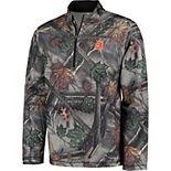 Men's Majestic Camo Detroit Tigers Sweat and Determination Half-Zip Pullover Jacket