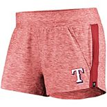 Women's Fanatics Branded Heathered Red/Red Texas Rangers Made To Move Running Shorts