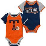 Newborn Navy/Orange Detroit Tigers Baseball Star Two-Pack Bodysuit Set