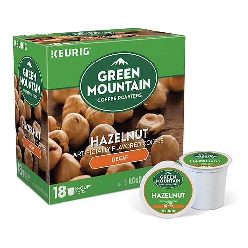 Keurig® K-Cup® Pod Green Mountain Coffee Hazelnut Decaf Coffee - 18-pk.
