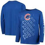 Youth Royal Chicago Cubs Score Long Sleeve T-Shirt