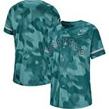 Men's Nike Aqua Seattle Mariners Camo Jersey