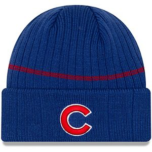 Men's New Era Royal Chicago Cubs Primary Logo On-Field Sport Cuffed Knit Hat