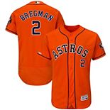 Men's Majestic Alex Bregman Orange Houston Astros Alternate Flex Base Authentic Collection Player Jersey