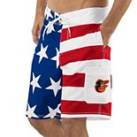Men's G-III Sports by Carl Banks Red/Blue Baltimore Orioles Americana Swim Trunks