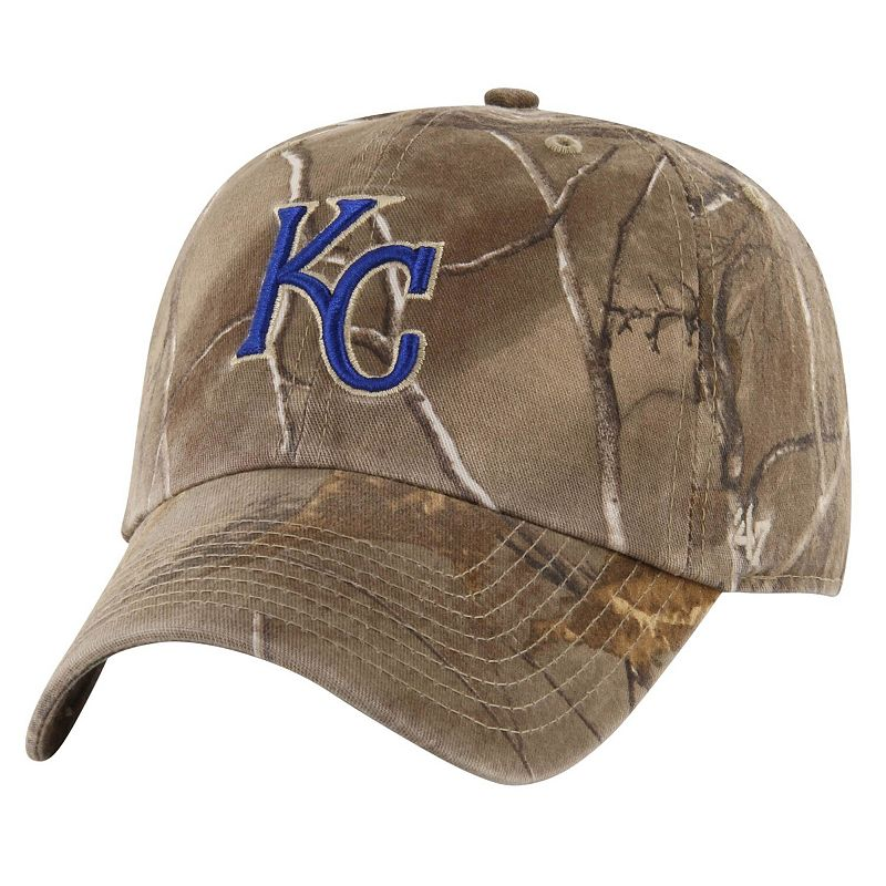 '47 Brand Kansas City Royals Franchise Fitted Hat – Realtree Camo, Size: Medium, Green