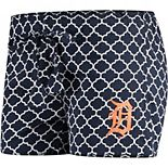 Women's Concepts Sport Navy/White Detroit Tigers Slumber Sleep Shorts