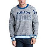 Men's New Era Steel/Royal Kansas City Royals French Terry Sweatshirt