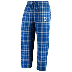 Men's Concepts Sport Royal/Gray Kansas City Royals Team Ultimate Plaid Flannel Pants