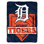 "The Northwest Company Detroit Tigers 60"" x 80"" Home Plate Raschel Plush Blanket"