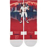 Youth Strideline Mike Trout Red Los Angeles Angels Superhero Socks