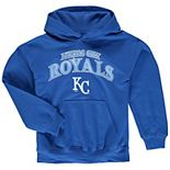 Youth Stitches Royal Kansas City Royals Team Fleece Pullover Hoodie