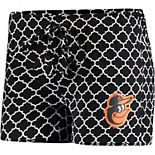 Women's Concepts Sport Black/White Baltimore Orioles Slumber Sleep Shorts