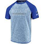 Men's Fanatics Branded Heathered Royal/Royal Kansas City Royals Made to Move Raglan T-Shirt