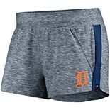 Women's Fanatics Branded Heathered Navy/Navy Detroit Tigers Made To Move Running Shorts