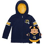 Toddler Cubcoats Royal Los Angeles Rams 2-in-1 Transforming Full-Zip Hoodie & Soft Plushie