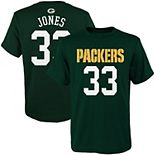 Youth Aaron Jones Green Green Bay Packers Mainliner Player Name & Number T-Shirt