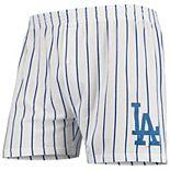 Men's Concepts Sport White Los Angeles Dodgers Vigor Boxer Shorts