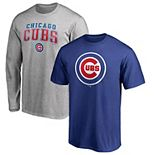 Men's Fanatics Branded Royal/Heathered Gray Chicago Cubs Team Logo T-Shirt Combo Set