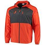 Men's Columbia Orange Baltimore Orioles Flash Forward Full-Zip Team Windbreaker Jacket