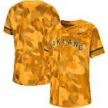 Men's Nike Gold Oakland Athletics Camo Jersey