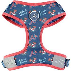 Fresh Pawz Navy Atlanta Braves Adjustable Mesh Pet Harness