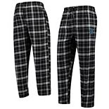 Men's Concepts Sport Black/Gray Miami Marlins Team Ultimate Plaid Flannel Pants