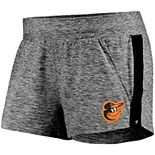 Women's Fanatics Branded Heathered Gray/Black Baltimore Orioles Made To Move Running Shorts