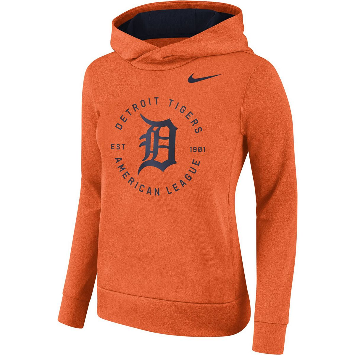 Women's Nike Orange Detroit Tigers Therma Pullover Hoodie Jgy7d