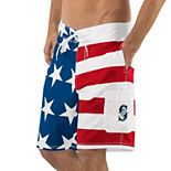 Men's G-III Sports by Carl Banks Red/Blue Seattle Mariners Americana Swim Trunks