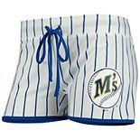 Women's Concepts Sport White/Royal Seattle Mariners Vigor Sleep Shorts